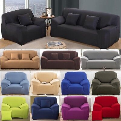 12 Types 1 2 3 4 Seater EASY Stretch Couch Sofa Lounge Covers Recliner Dining QQ