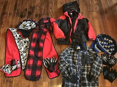 Size 5/6 Boys lot of clothing 11 Winter Items Children's Place & Gap