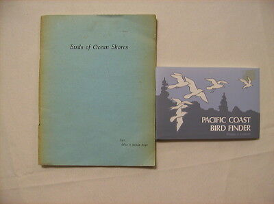 Lot of 2 Books on Birding Along the Pacific Coast Ornithology Location Guides