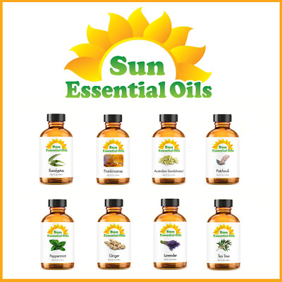 Best Sun Essential Oils - (Large 4oz) - 100% Pure - Amber Bottle + Dropper