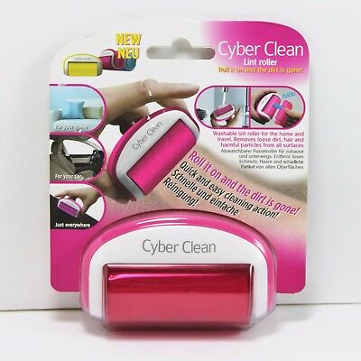 Cyber Clean Travel Size On-The-Go Pink Lint Roller - Reusable