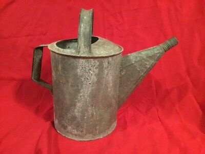 Old #8 Galvanized Metal Garden Art Plant Flower Sprinkler Handle Watering Can