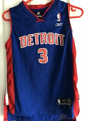 Nba Detroit Pistons #3 Wallace Basketball Jersey Vest Top Sport Usa