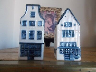 2 KLM / RYNBENDE blue delft's houses,# 6,# 23.  Empty