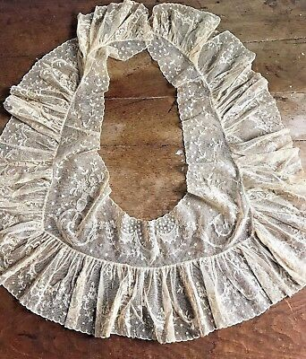 Exceptional Large Antique Lace Collar - Trim