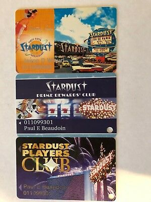 Lot of 3 Stardust Las Vegas Players Club Cards