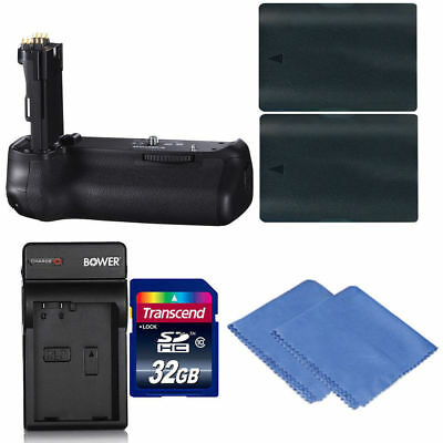Battery Grip For Canon EOS 70D and 80D & 2 LP-E6 Batteries   Charger   32GB Kit