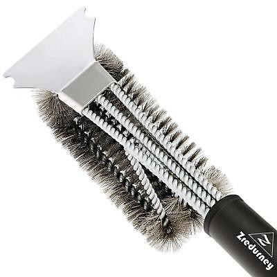 """Zredurney Grill Brush, BBQ Cleaning Brush and Scraper, 18"""" Stainless Steel"""