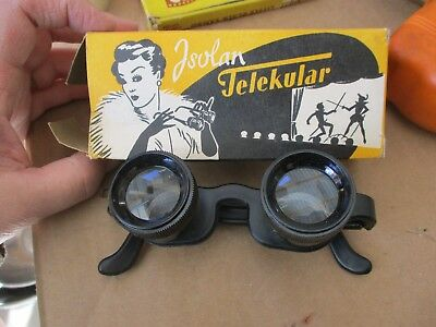 vintage Isolan Telekular Western Germany optical magnify binocular eye glasses