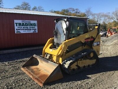 2015 Caterpillar 259D Compact Track Skid Steer Loader w/ Cab & 2 Speed
