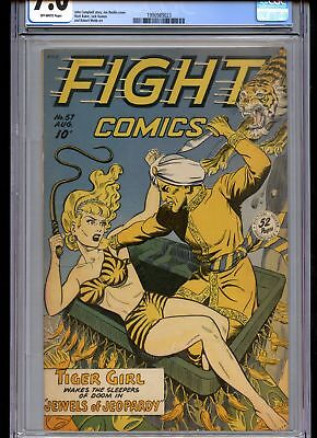 Fight Comics #57 CGC 7.0 Off-White Pages Fiction House