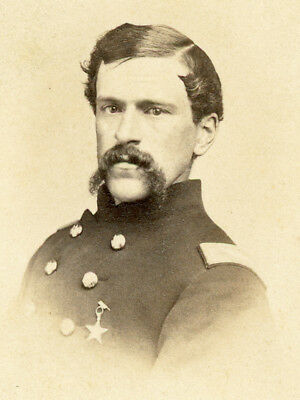Cdv Union Officer With Xith Corps Badge By Addis Of Washington D C