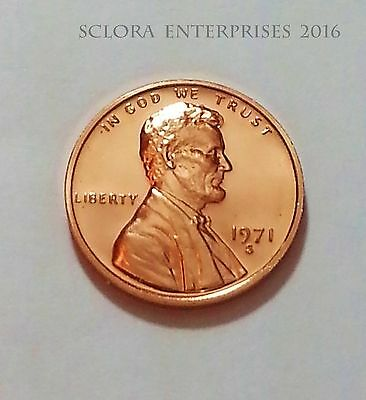 1971 S Lincoln Memorial *PROOF* Cent Penny  **FREE SHIPPING**