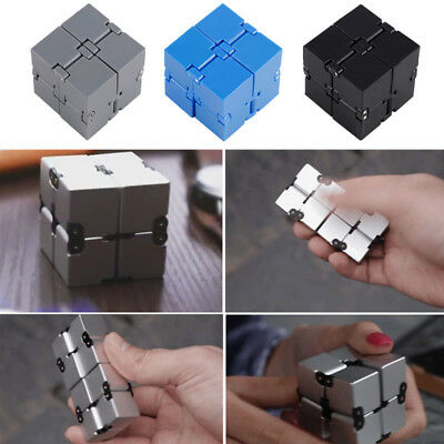 Magic Infinity Cube Toy For Fidget Anxiety Finger Stress Relief Block Toy Gift