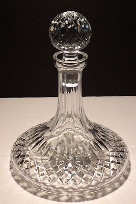 VINTAGE WATERFORD CRYSTAL LISMORE SHIPS DECANTER w/STOPPER ~ IRELAND