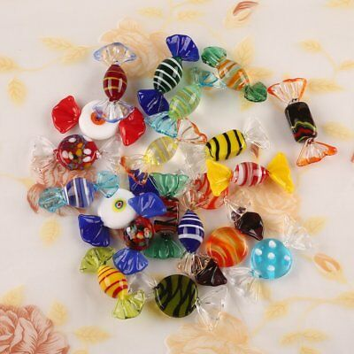 20pcs Vintage Murano Glass Sweets Wedding Xmas Party Candy Decorations Gift UK