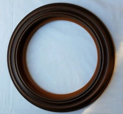 NEW Hampshire Style Collector Plate Frame. 8 1/2 in Plate. Wood grain finish #1