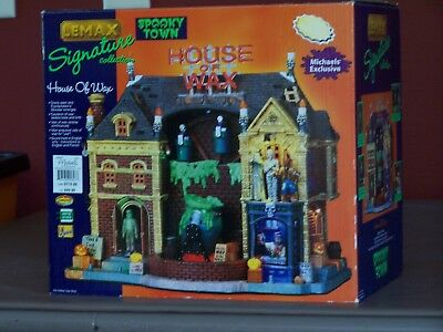 "Lemax Spooky Town ""House of Wax"" 2003 (with original box)  95827"