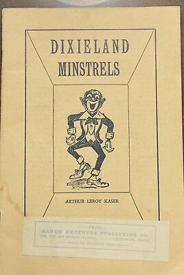 1929 Dixieland Minstrels Bugbee Play Booklet Black Face Americana Old Book