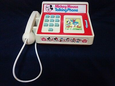 Working Vintage Mickey Mouse Talking Telephone, Walt Disney Productions, 1974