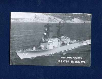DD 975 USS O'BRIEN WELCOME ABOARD Booklet US Navy Ship Squadron Pamphlet