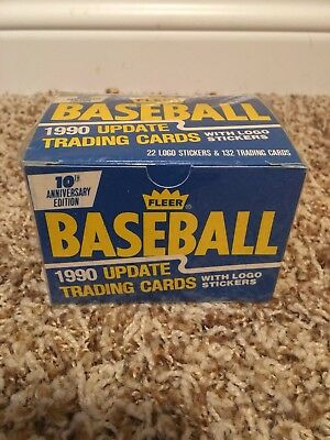 1990 Fleer Baseball 10th Anniversary Edition Update Trading Cards Set SEALED