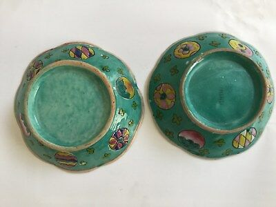 Pair of Antique Chinese Export Enameled Porcelain bowl - 19th c