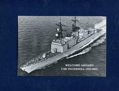 DD 990 USS INGERSOLL WELCOME ABOARD Booklet US Navy Ship Squadron Pamphlet