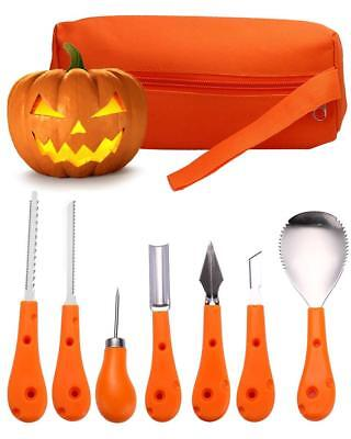 7 Piece Halloween Pumpkin Carving Kit for kids and Adults, Pumpkin Carving Tools