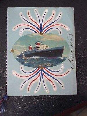 UNITED STATES LINES SS UNITED STATES 1953 GALA DINNER MENU - Free Shipping