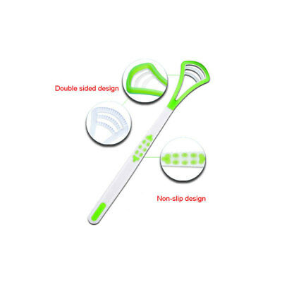 Hot Plastic Tongue Tounge Cleaner Scraper Dental Care Oral Hygiene Mouth