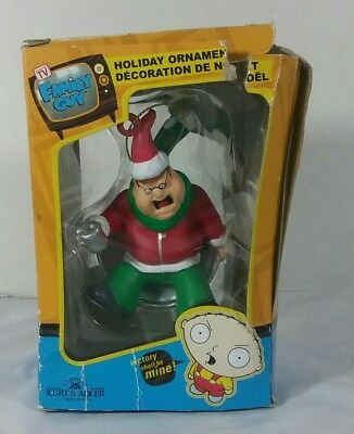 Family Guy Holiday Ornament 2009 Peter Griffin Sledding Collectible Christmas