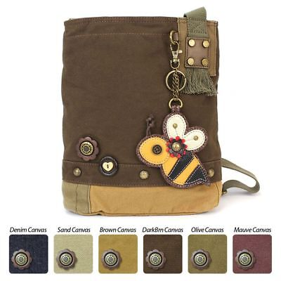 33ad66135 Chala Patch Crossbody Bag Canvas gift Messenger Dark Brown BUMBLE BEE coin  purse