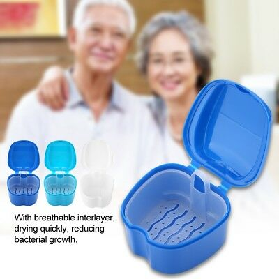 Denture Bath Case Container False Teeth Dental Tooth Storage Box Rinsing Basket