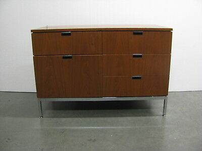 Florence Knoll designed MCM 1982 Two Position Credenza five locking drawers