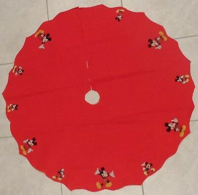 Mickey Mouse Christmas Tree Skirt Walt Disney's Famous Mouse