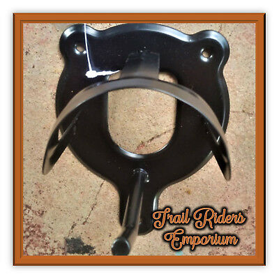 Bridle Holder Bridle Rack or Bridle HOOK - Black metal with powder coat Black