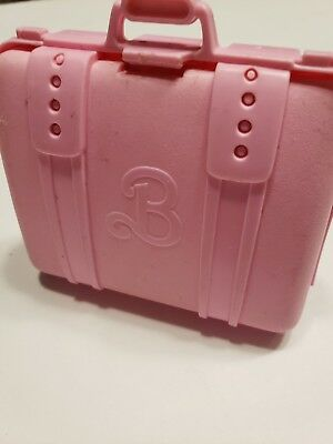 Vintage 1989 Barbie Pink Luggage Case for doll by Mattel