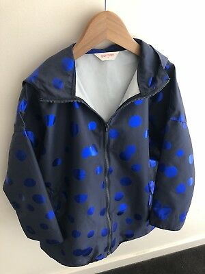 Child Unisex GORMAN Rain Coat Size S 4-6 Yrs Approx, NEW! Blue Polka Dots