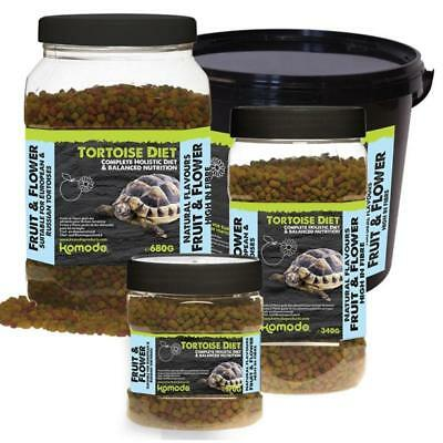 Komodo Reptile TORTOISE DIET FRUIT FLOWER Natural Complete Holistic Food Pellets