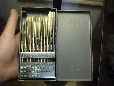 NEW In Huot Case Union Butterfield HSS #1-#60 Chucking Reamer Set 60 Piece USA