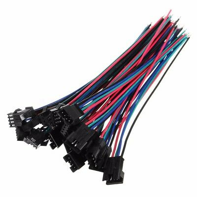 10 x 4 Pin JST SM-2.54 22AWG Wire Male & Female Connectors 15CM Wire Seller DIY