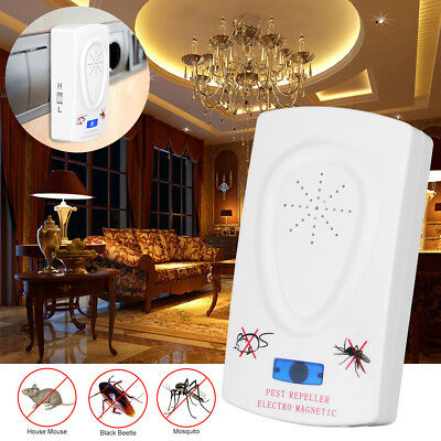 Electronic Ultrasonic Pest Repeller Mosquito Mouse Insect Rodent House Control