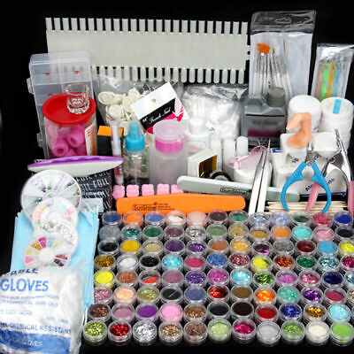 96pcs Nail Art Kit Tools Glitter UV Gel Polish /40W /54w Sun LED UV Nail Lamp OZ