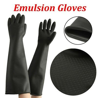 60CM Latex Gauntlets Gauntlet Long Gloves Rubber PPE Industrial Anti Chemical UK
