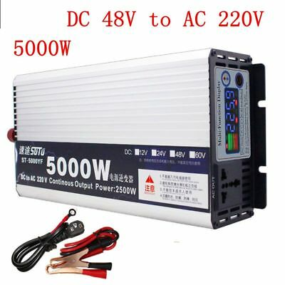 5000W Pure Sine Wave Power Inverter DC48V to AC220V for Truck/RV Car/Home Solar