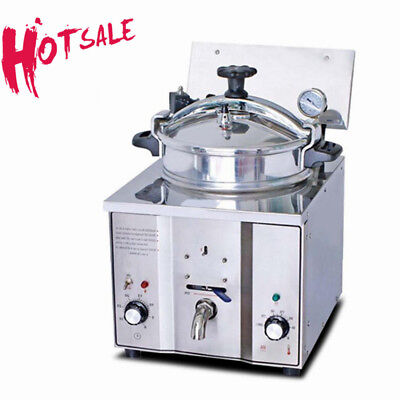 Auto 16L Electric Pressure Fryer 2.4KWCooking Countertop  Fish Chicken+Drain Tap