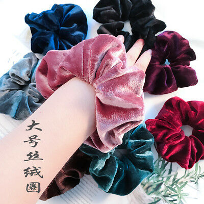 Women's Girls Velvet Elastic Hair Band Rope Hair Tie Scrunchie Ponytail Holder