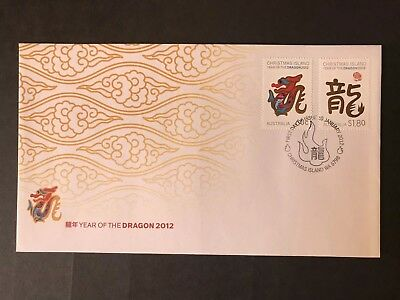 Australia Christmas Island 2012 Year Of The Dragon First Day Cover
