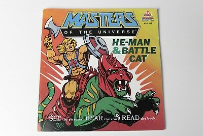 HE-MAN & BATTLE CAT Kid Stuff Buch Schallplatte Masters of the Universe MotU